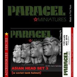 ASIAN HEAD SET 2 ( WAR FACE)